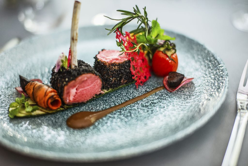 Roasted-Lamb-Rack-with-Active-Charcoal-