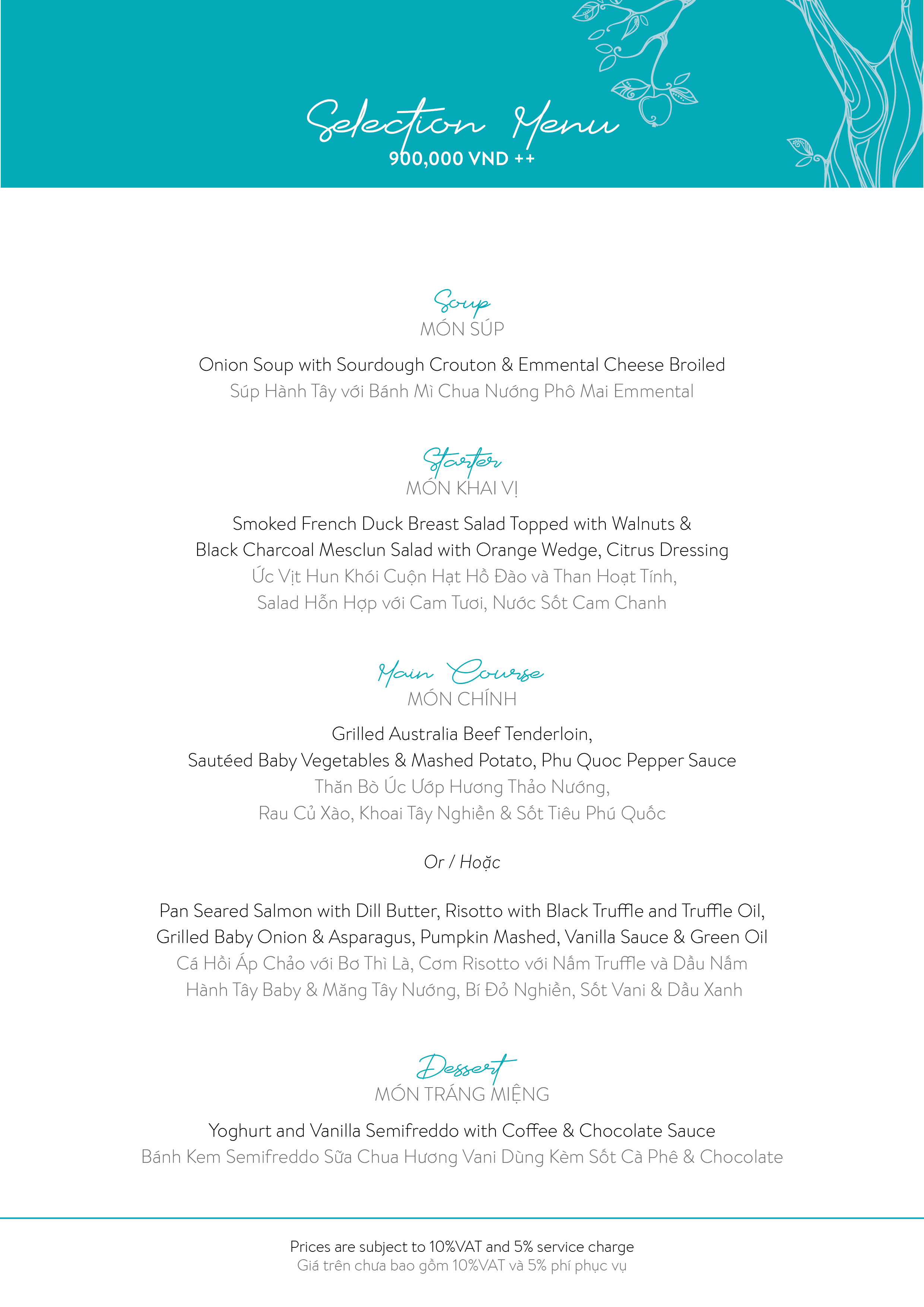 The Temptation-Selection menu