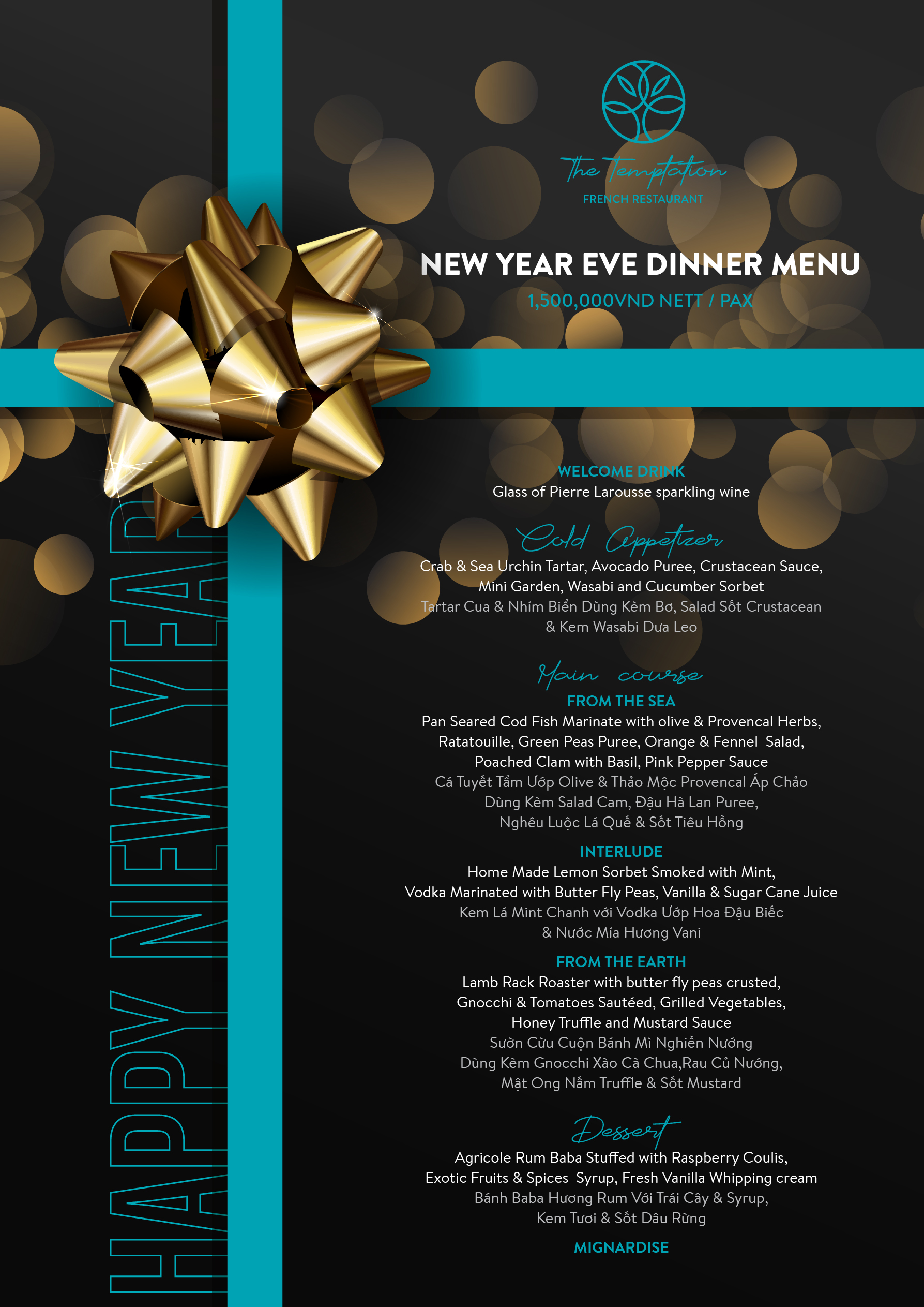 The Temptation-New Year Menu 2020